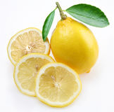 Lemon with section Royalty Free Stock Image