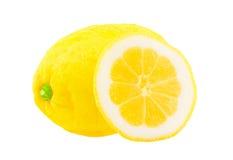 Lemon with a segment. Royalty Free Stock Photos