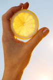 Lemon  segment  hand  female  sun Stock Photos