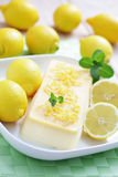 Lemon semifreddo Royalty Free Stock Photo