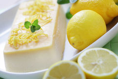 Lemon semifreddo Stock Images