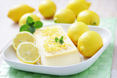 Lemon semifreddo Royalty Free Stock Photography