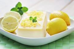 Lemon semifreddo Stock Photo