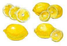 Lemon set Stock Photos
