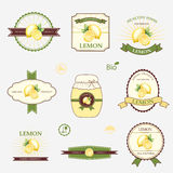 Lemon, set of label design Stock Photo