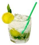 Lemon shake with ice Stock Photo