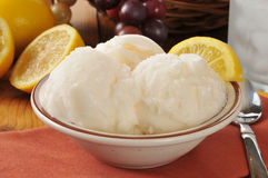 Lemon sherbet Royalty Free Stock Photo
