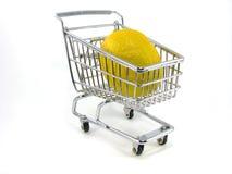 Lemon in Shopping Cart Stock Photography