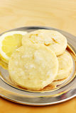 Lemon shortbread cookies Stock Photography