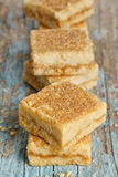 Lemon Shortbread Squares Royalty Free Stock Images