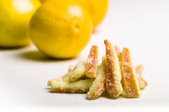 Lemon skin -Limuncini & Arancini. Lemon skin cooked in sugar Stock Images
