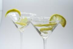lemon skorupy Martini obieraj cukru Obrazy Stock