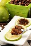 Lemon slice 、 Coffee powder 、 Sugar Stock Photo