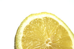 Lemon Slice. Macro. Shallow DOF stock image