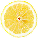 Lemon slice. Isolated on white background Stock Photography