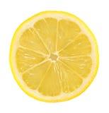Lemon Slice. Round Lemon Slice Isolated on White Background royalty free stock image
