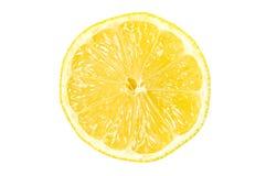 Lemon slice. Slice of lemon isolated on white background with clipping path Stock Photo