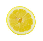 Lemon slice. Cross section isolated on white background Royalty Free Stock Photography
