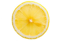 Lemon Slice. Lemon section on white background royalty free stock photo