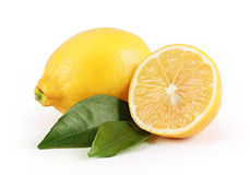 Lemon with slice Royalty Free Stock Image