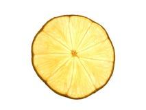 Lemon slice. On white background Royalty Free Stock Images