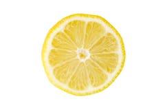 Lemon Slice. Closeup of a lemon slice - isolated on white background royalty free stock photography