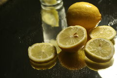 Lemon slice. Lemon silce composition royalty free stock photo