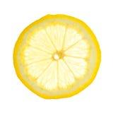 Lemon slice. Isolated on white background stock photo
