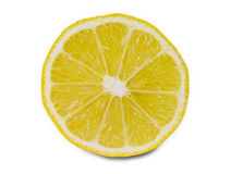 Lemon slice. On white background royalty free stock photos