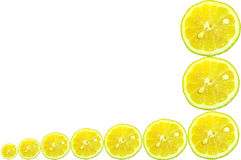 Lemon Slice Border Stock Photography