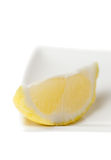 Lemon Slice Closeup in High Key Royalty Free Stock Photos