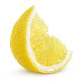 Lemon slice. Slice of lemon fruit isolated on white background Royalty Free Stock Image