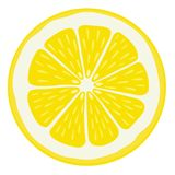 Lemon Slice Isolated Royalty Free Stock Image