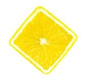 Lemon slice isolated Royalty Free Stock Photo