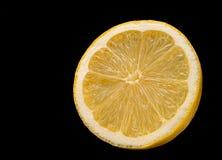 Lemon slice isolated Stock Image