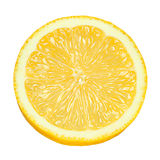 Lemon slice isolated Stock Photography