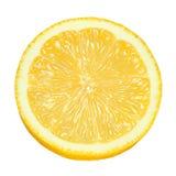 Lemon slice isolated. Lemon citrus fruit slice isolated on white background Stock Photography