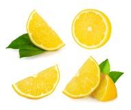 Free Lemon Slice Isolated On White Stock Image - 90515511