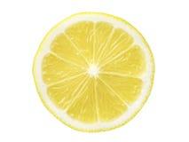 Lemon slice isolated. Perfect juicy lemon slice isolated on white background royalty free stock images
