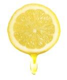 Lemon Slice. Isolated on white royalty free stock photo
