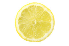 Lemon slice isolated on white Stock Image
