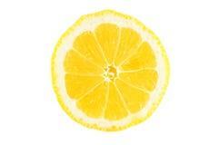 Lemon slice. Slice of lemon isolated on white background Royalty Free Stock Photos