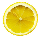 Lemon slice isolated on white background Stock Photos