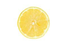 Lemon slice. Isolated on white background stock images