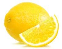 Lemon and slice Royalty Free Stock Photos