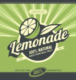 Lemon slice and lemonade Stock Photography