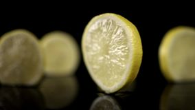 Lemon slice stock footage