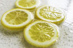 Lemon Slice. ,water,soda water royalty free stock photo