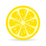Lemon slice vector icon Stock Images