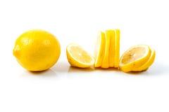Lemon. Slice on white background Royalty Free Stock Photo